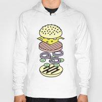 burger Hoodies featuring Burger by Jan Luzar