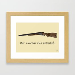 This is not my Boomstick Framed Art Print