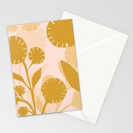 Wildflowers Large- Pink and Gold Stationery Cards