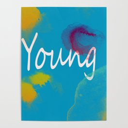 Young Typography Print Poster