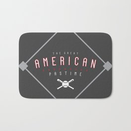 Baseball - The Great American Pastime Bath Mat