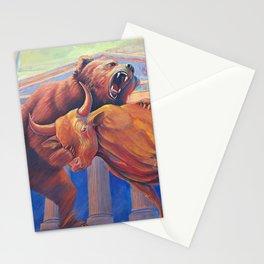 Bear vs Bull Stationery Cards