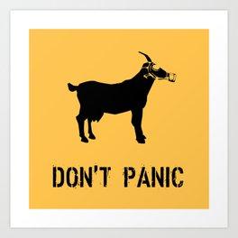DON'T PANIC I Art Print