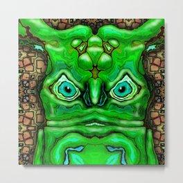 Green Alien Dude Metal Print