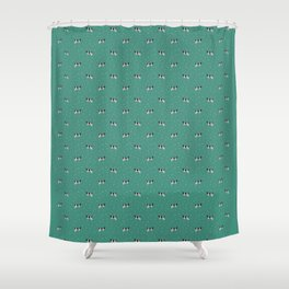 Holstein // Sprinkles on Green Shower Curtain