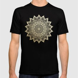 BOHO NIGHTS GOLD MANDALA T-shirt