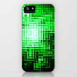 Nebula Pixels Emerald Green iPhone Case