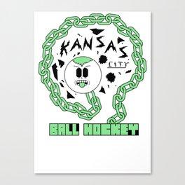 Kansas City Ball Hockey Wildin' Owt [Small Graphic] by John F. Malta Canvas Print