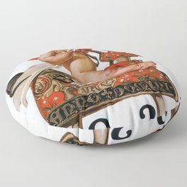New Year Baby 1924 - Digital Remastered Edition Floor Pillow
