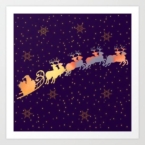 I dream of Santa Claus | Christmas Vision Art Print