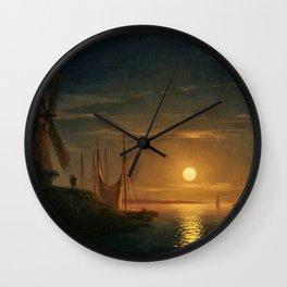 Clair de Lune sur le Dniepr by Ivan Aivazovsky Wall Clock
