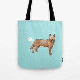 Australian Cattle Dog red heeler funny fart dog breed gifts Tote Bag