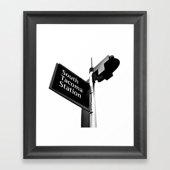 South Tacoma Station Framed Art Print