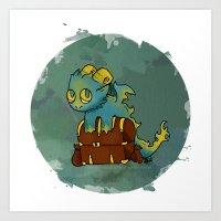 Little Sin Dragon - Greed Art Print