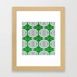 Deep Lime Green Lace Framed Art Print