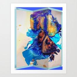 Ice Mosaic #4 Art Print