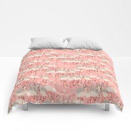 flamingo party Comforters