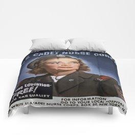 Vintage poster - U.S. Cadet Nurse Corps Comforters