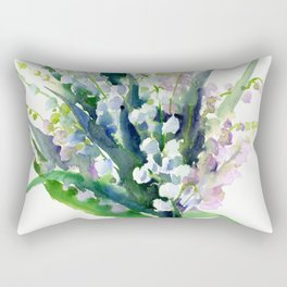 Lilies of the Valley, spring floral design flowers sring design wood flowers Rectangular Pillow