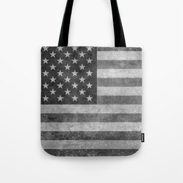 American flag - retro style in grayscale Tote Bag