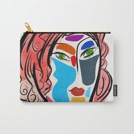 Poetic Pop Art Portrait Carry-All Pouch