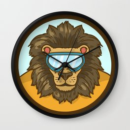 snow lion Wall Clock