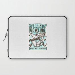 Bowling Champion Laptop Sleeve