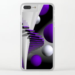 go violet -12- Clear iPhone Case