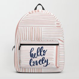 Hello Lovely Pink Backpack