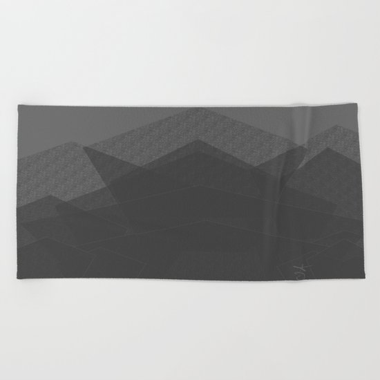 Grey Mountain Climbing. Rock Climbing Beach Towel