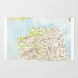 San Francisco CA City Map  Rug