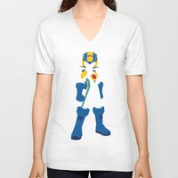 megaman V-neck T-shirts featuring Megaman EXE by JHTY