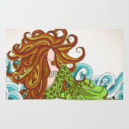 Mermaid Waves Rug