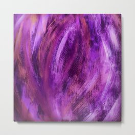 Dimension Morado Metal Print