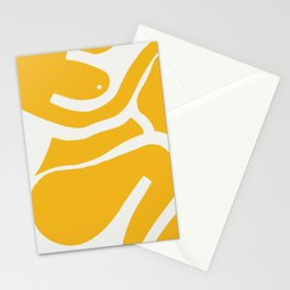 Nude puzzle in yellow Stationery Cards
