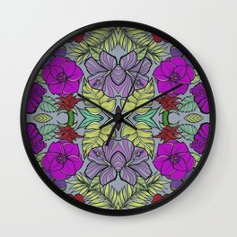 Psychedelic Spring Wall Clock