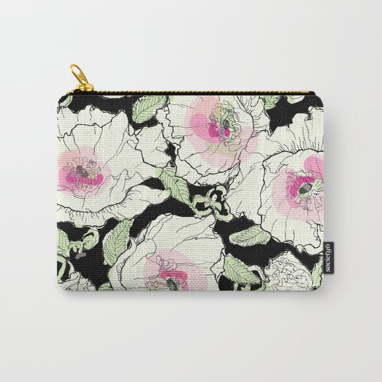 poppies creme Carry-All Pouch