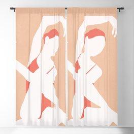 Minimal Woman Pose Blackout Curtain