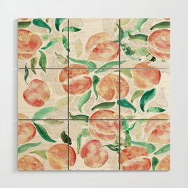 Watercolor Peaches Wood Wall Art