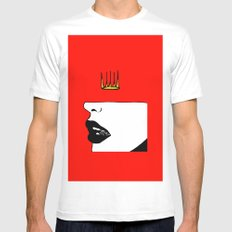 Lip King Mens Fitted Tee White MEDIUM
