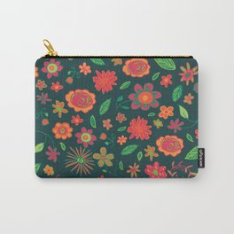 Spring Florals Green Carry-All Pouch