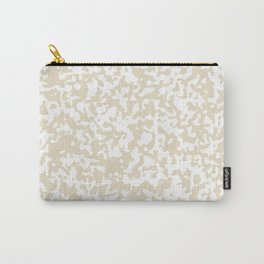 Small Spots - White and Pearl Brown Carry-All Pouch