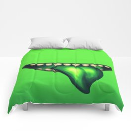 Big Mouth (Green) Comforters