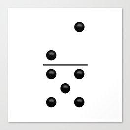 White Domino / Domino Blanco Canvas Print