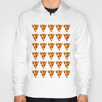 pizza Hoodies featuring PIZZA by Kaitlin Smith