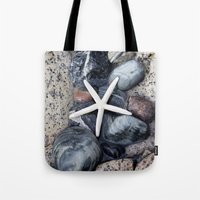 starfish Tote Bags featuring Starfish by LebensART Photography
