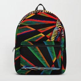 3709s-DEW Abstract Pop Art Feminine Power Yoga Headstand Split Zebra Nude Backpack