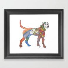 J-town Dog; Seasons of Change Framed Art Print