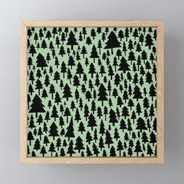 Meadow Green x Forest Pattern Framed Mini Art Print