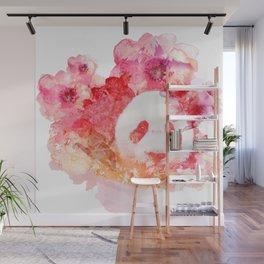 Hana Pink Wall Mural